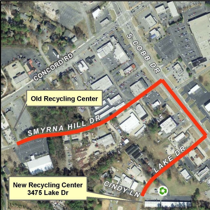 Recycling Center Map 2015 Lake Drive location