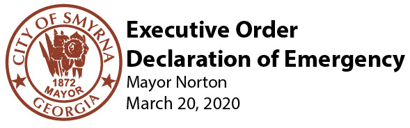 Executive Order Declaration of Emergency March 20 2020